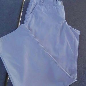 TALBOTS beige stretch straight leg pants
